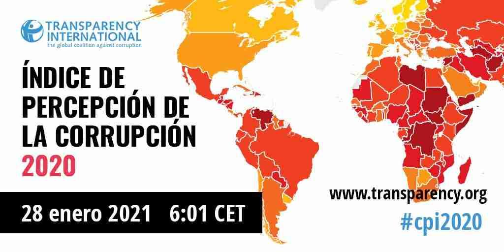 Presentación del Índice de Percepción de la Corrupción 2020 de Transparencia Internacional
