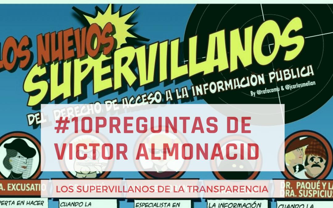 Los supervillanos en el 10 preguntas de Victor Almonacid